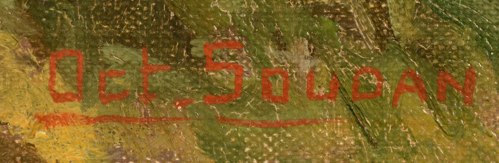 Octave Soudan — Signature of the artist, bottom right