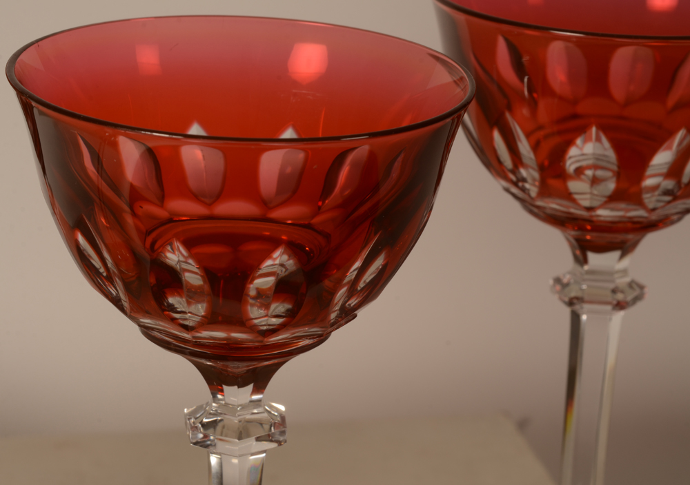 Set of 4 crystal roemers — Detail