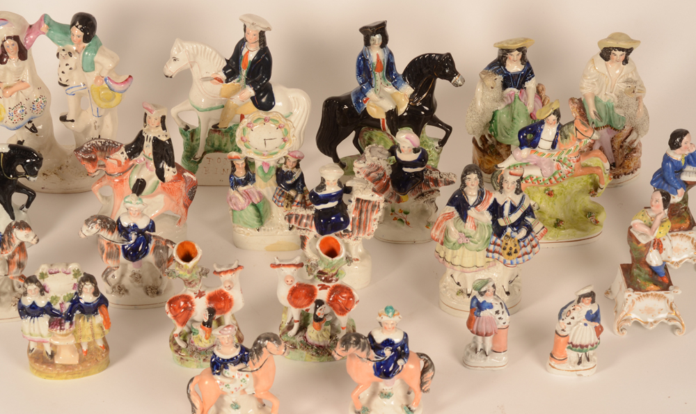Staffordshire collection — Detail of the groups