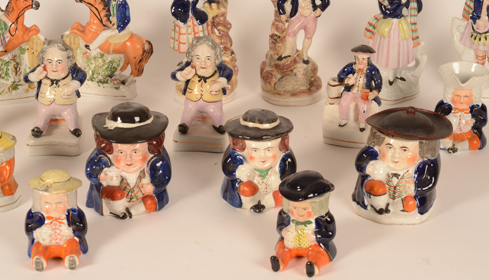 Staffordshire collection — Detail of the jars