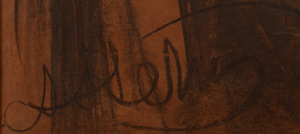 Arno Stern — Signature of the artist.
