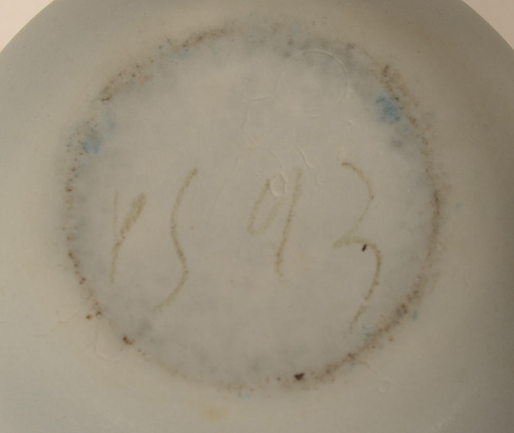 Piet Stockmans — Monogram signature and date on the bottom of the base