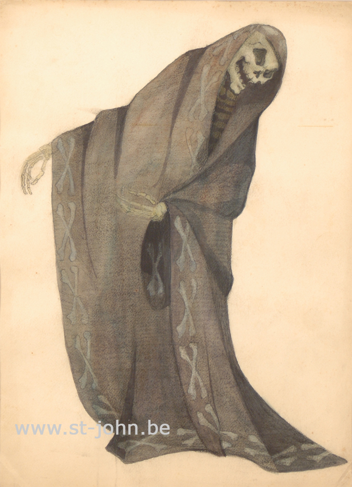 Jan Stultjes — <p> Costume design for the play Elckerlyc: &quot;Death&quot;, pencil and watercolour on paper, 36 x 26,5 cm.</p>