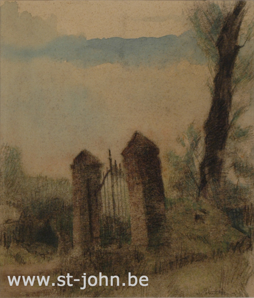Jan Stultjes — <p> The old fence, pencil and watercolour on paper, signed bottom right &quot;J Stultjes&quot;, 24,5 x 21 cm (day measures).</p>