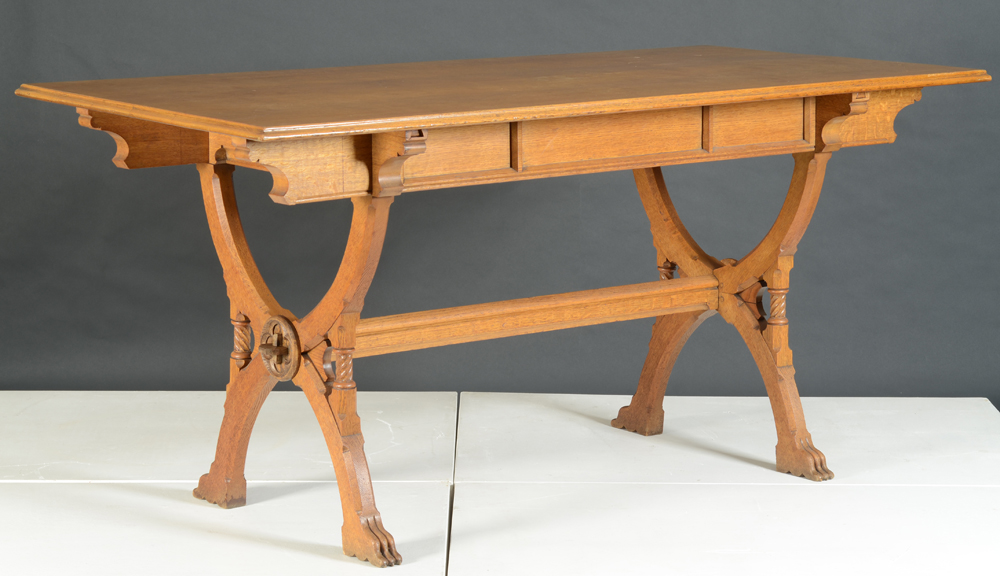 Matthias Zens — A very fine oak gothic revival table