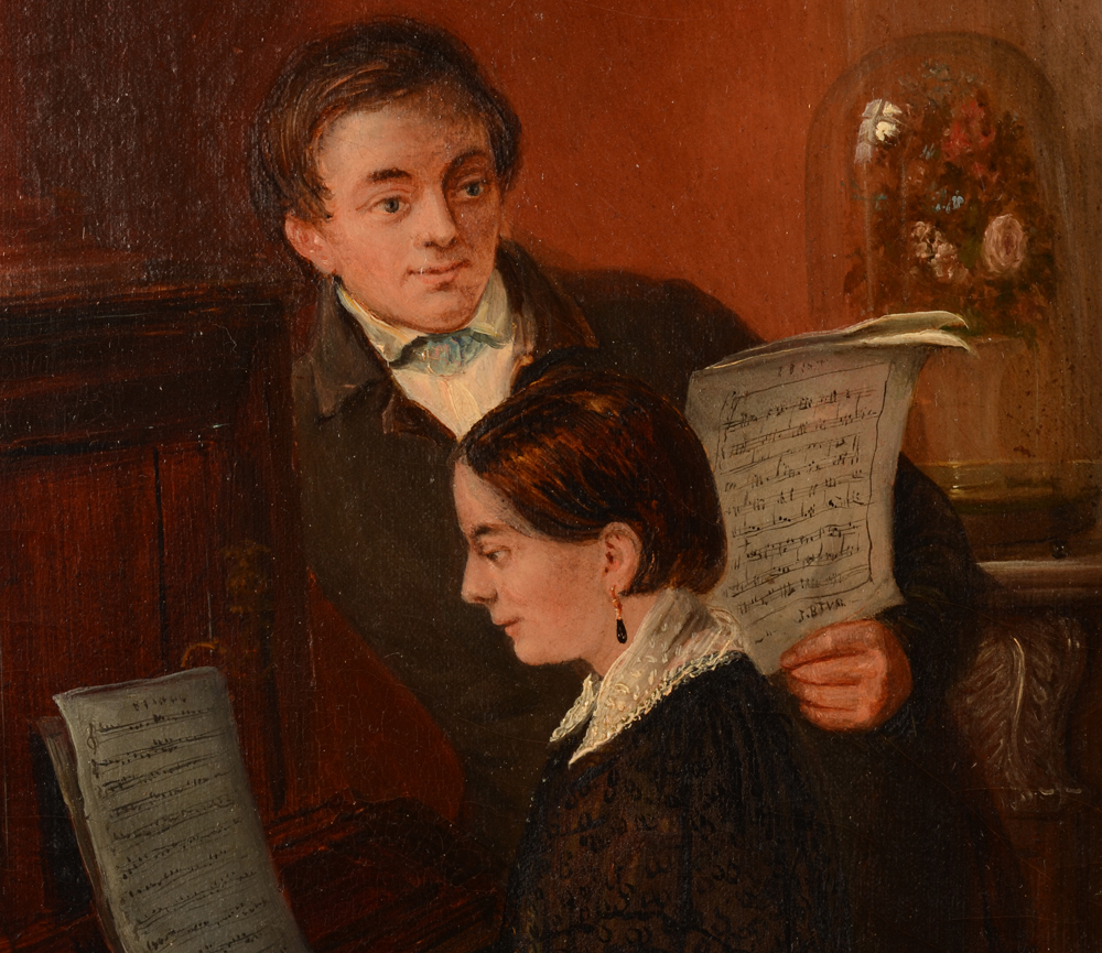 Jean Baptiste Tetar Van Elven — Detail of the two children playing music