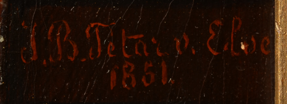 Jean Baptiste Tetar Van Elven — Signature of the artist and date, middle right