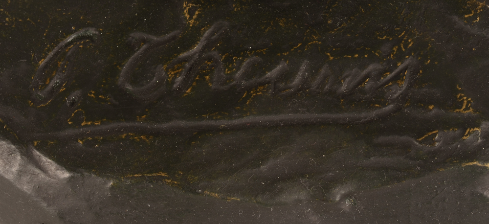 Pierre Theunis — Signature of the artist on top of the base.