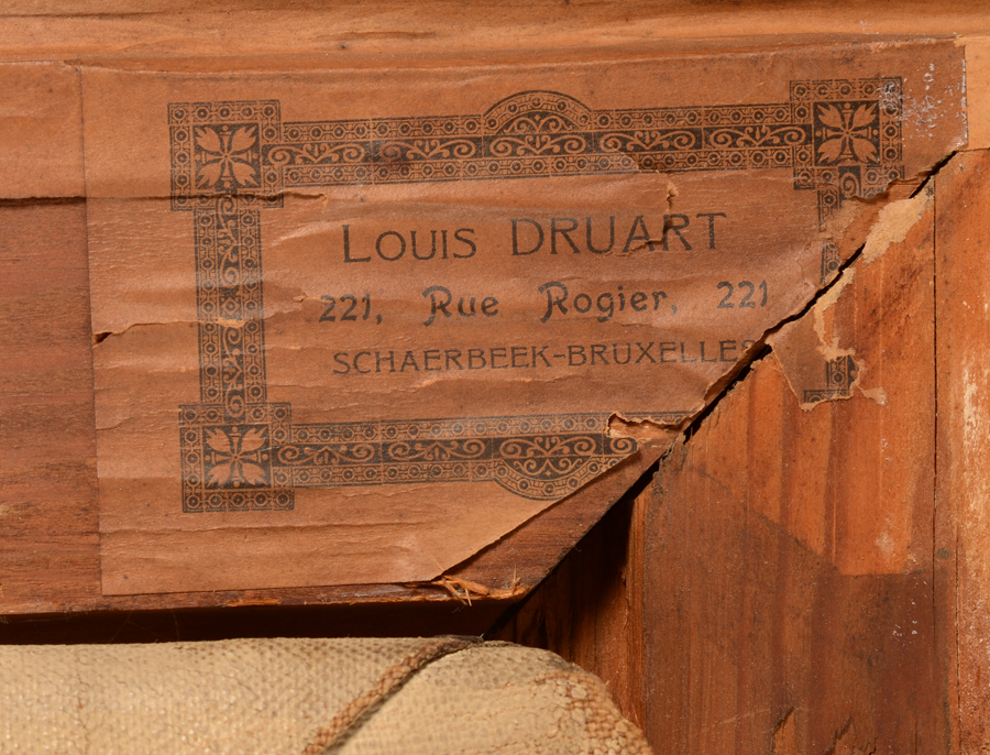 Edouard Thiébaut — <p>Detail of the label at the back of the frame</p>