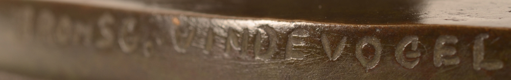 Henri Thiery — Mark of the foundry on the edge of the bronze base