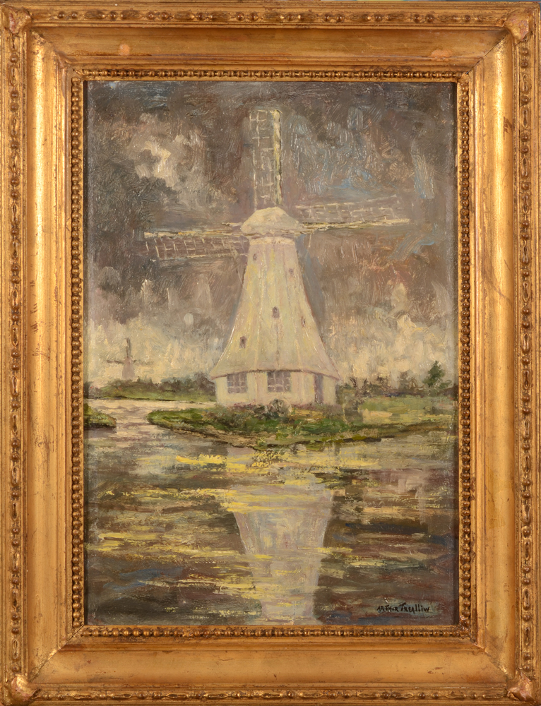 Arthur Trealliw The White Windmill — In its frame / Dans son cadre