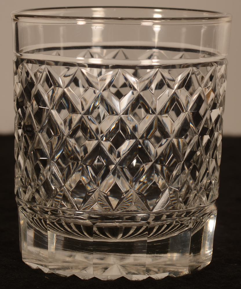 Crystal whisky glass 93 mm — verre à whiskey taille diamant en cristal
