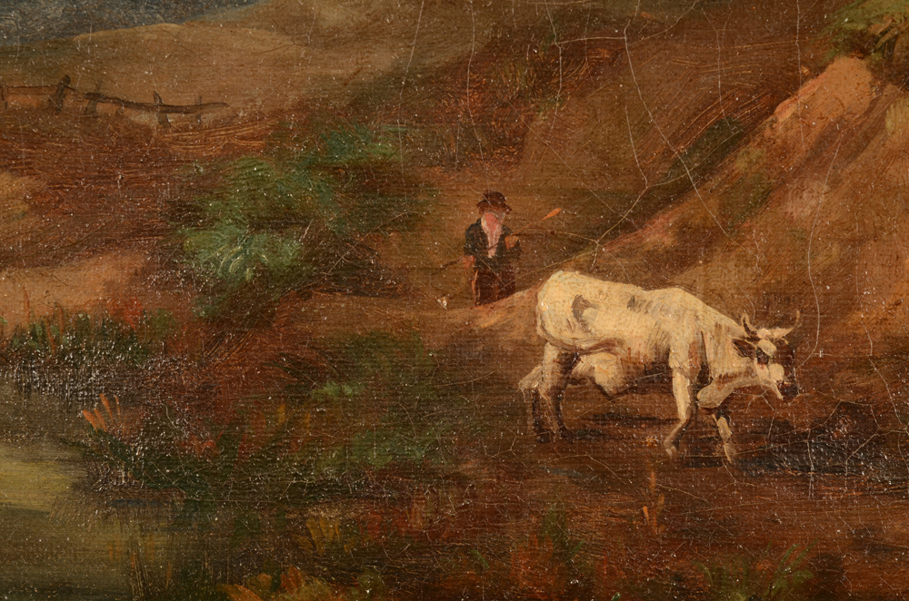 Unknown Artist — Detail of the shepherd and his cow