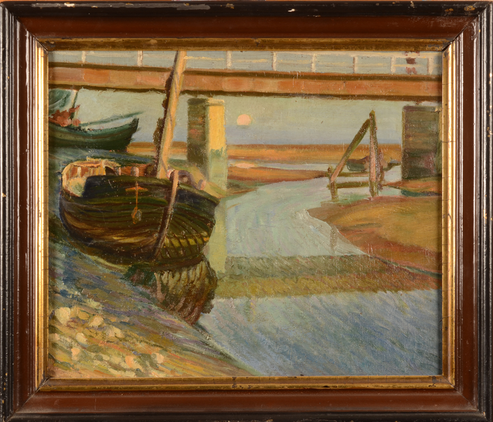 Unknown impressionist artist — the painting in its frame