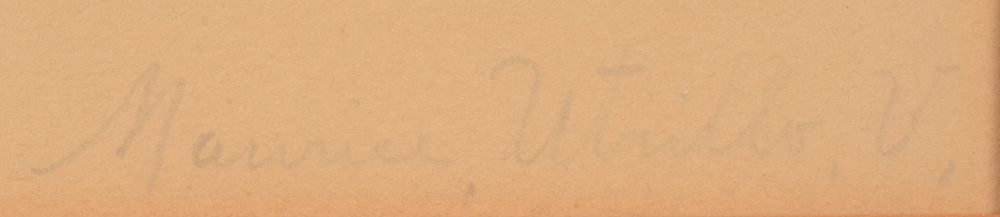 Maurice Utrillo (after) — Signature in pencil, bottom right