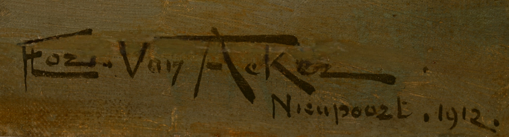 Florimond Van Acker — Signature of the artist, localisation and date, bottom right
