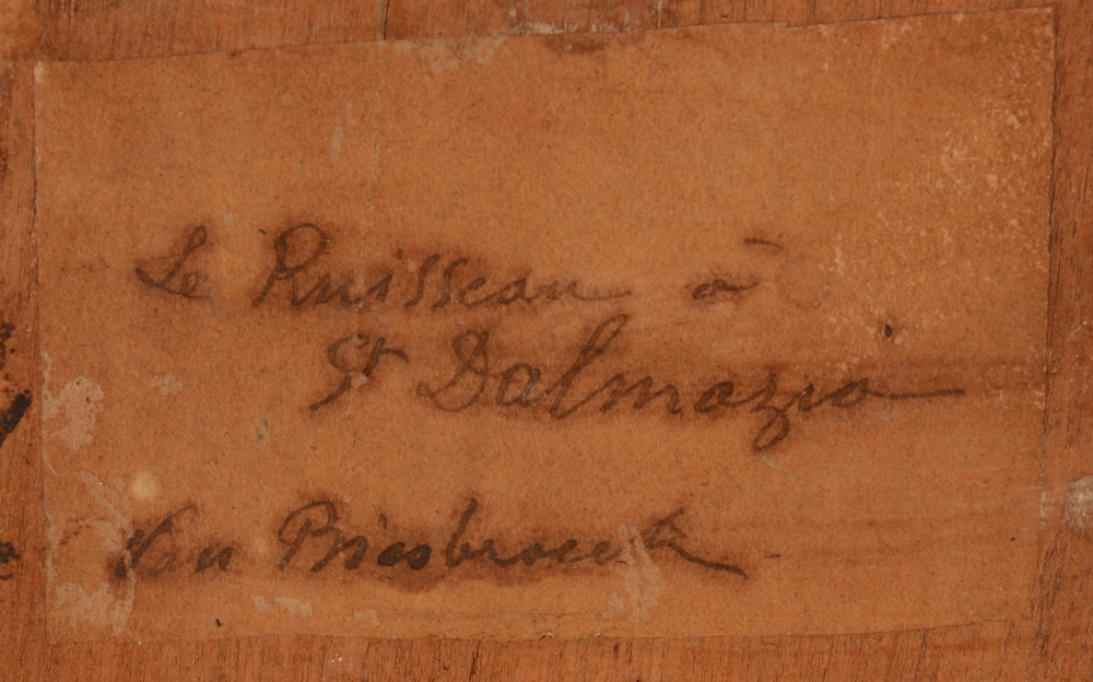 Jules Van Biesbroeck — <p>Hand written label at the back with title and signature</p>