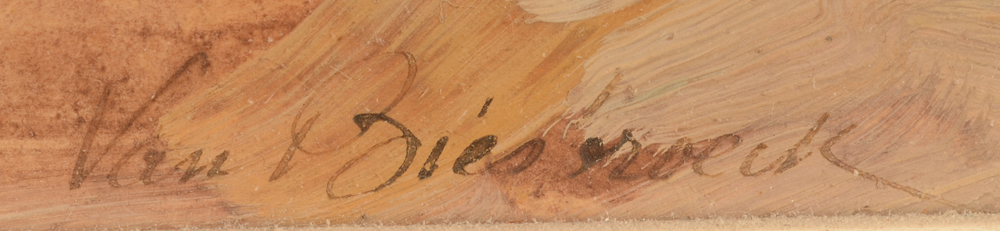 Jules Van Biesbroeck — Signature of the artist, bottom right