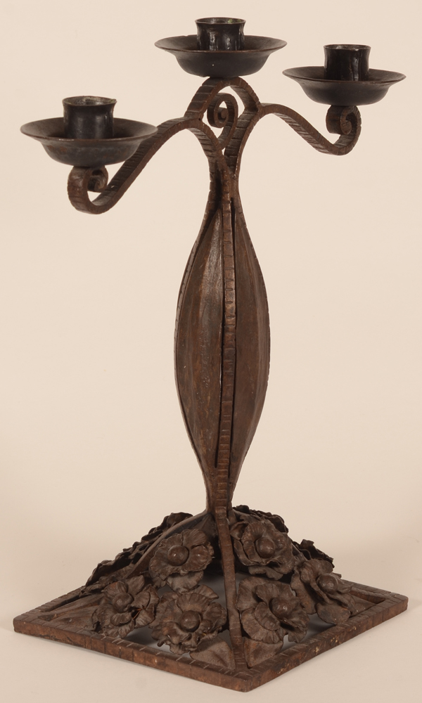 Lodewijk Van Boeckel — Side view of the wrought iron candlestick