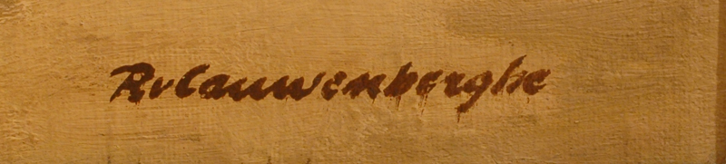Robert Van Cauwenberghe — Signature of the artist, bottom right.