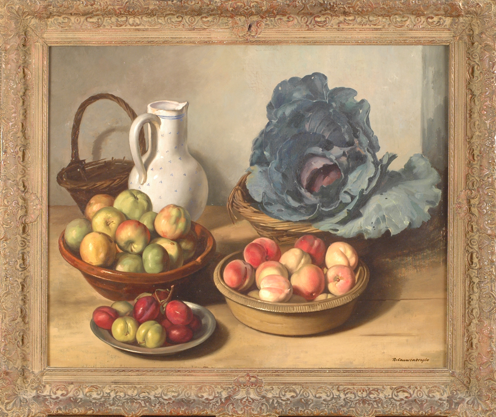 Robert Van Cauwenberghe — A magnificent stillife in the new realist style of the 1930's.
