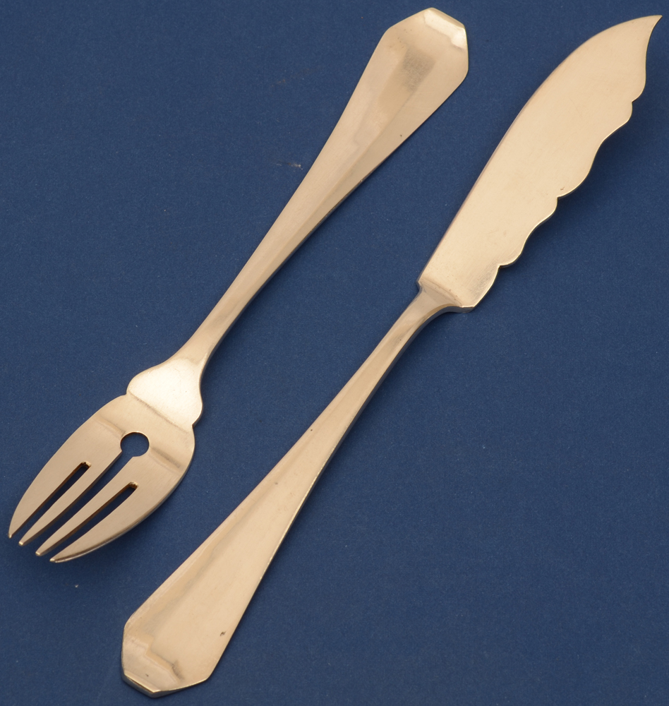 Van Damme Bruges  — <p>Detail of one fork and one knife</p>
