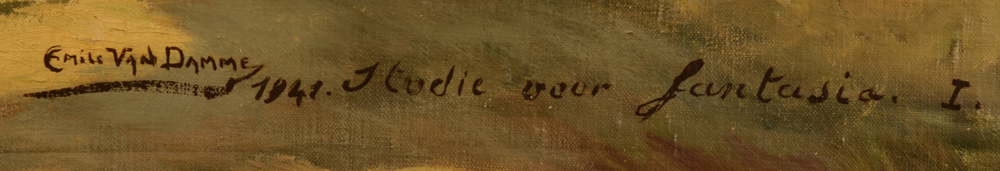 Emile Van Damme — Signature of the artist, title and date, bottom right<br>