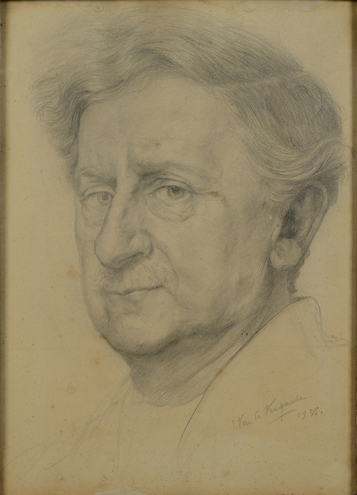 Jules Van de Veegaete — Possibly a self portrait by the artist, signed and dated 1935.