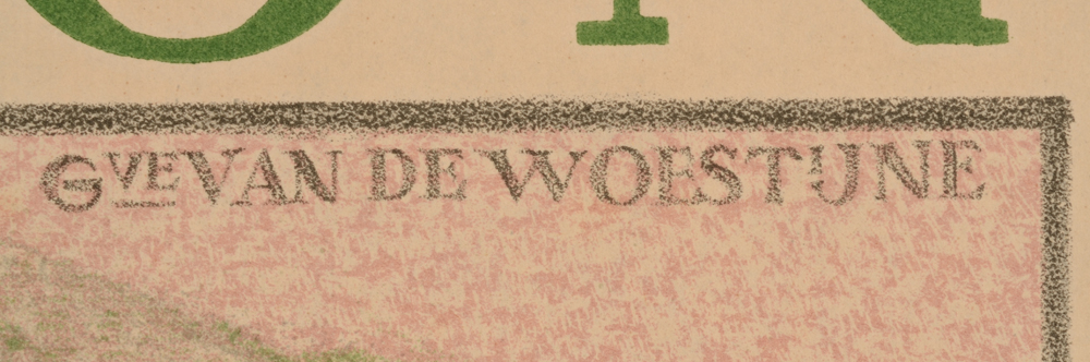 Gustave Van de Woestijne — Detail of the signature of the artist, in the image, top right.