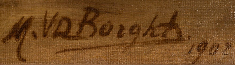 M. Van Der Borght — Signature of the artist and date, bottom right