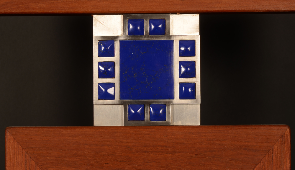 Jos Van Driessche — the stainless steel and lapis lazuli decoration in detail