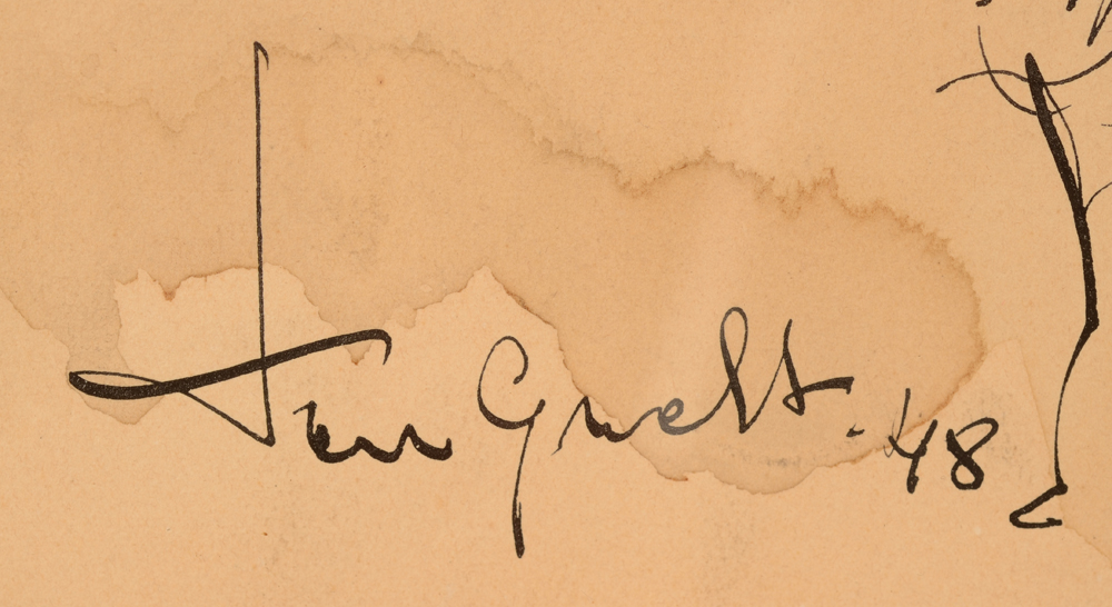 Jose Van Gucht — Signature of the artist and date, bottom left