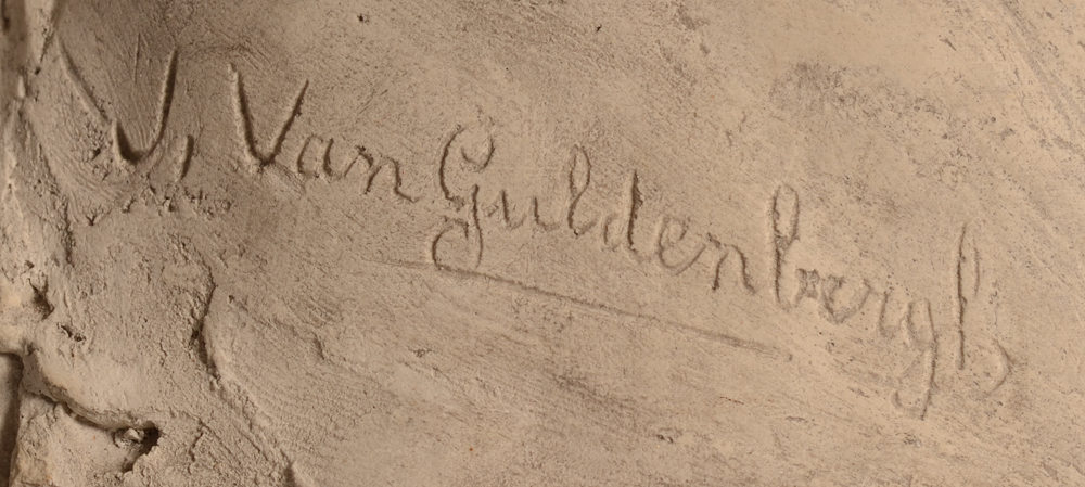 Jean Van Guldenbergh — Signature of the artist bottom left