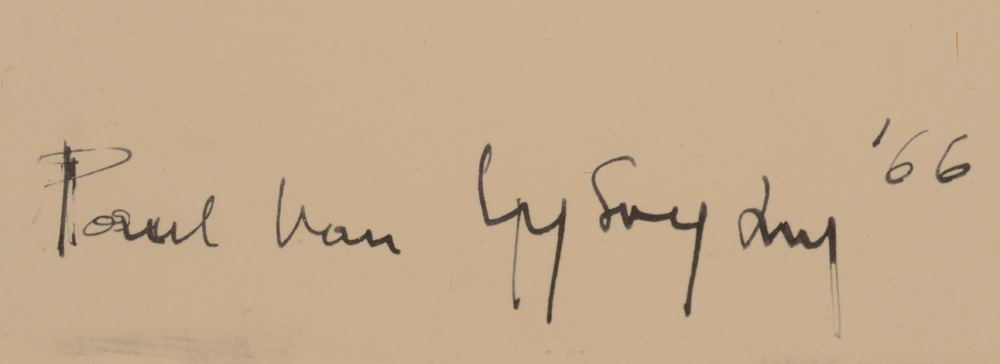 Paul Van Gysegem — Signature of the artist and date, bottom right