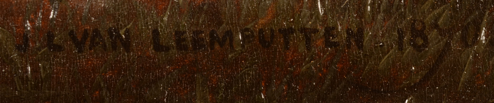 J.L. Van Leemputten — Signature of the artist and date, bottom right
