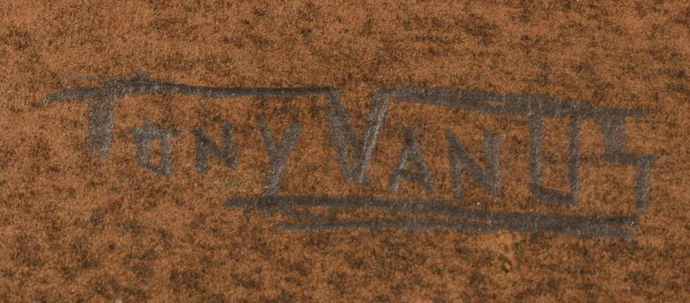 Tony Van Os — Signature of the artist, bottom left