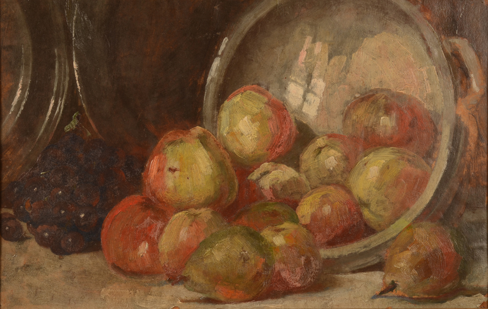 Van Quekelberghe E. (attributed to) Apples — huile sur toile impressioniste