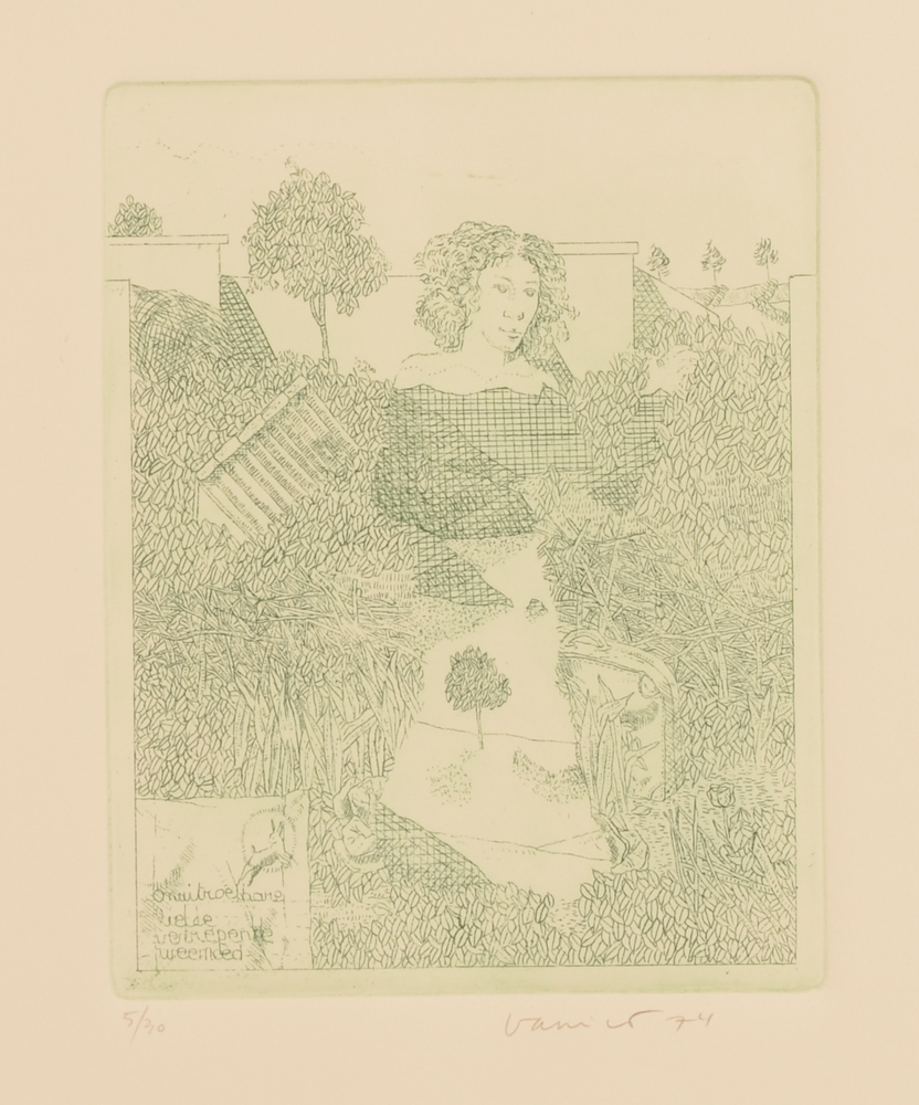 Jan Vanriet — portofolio of 5 etchings in good condition
