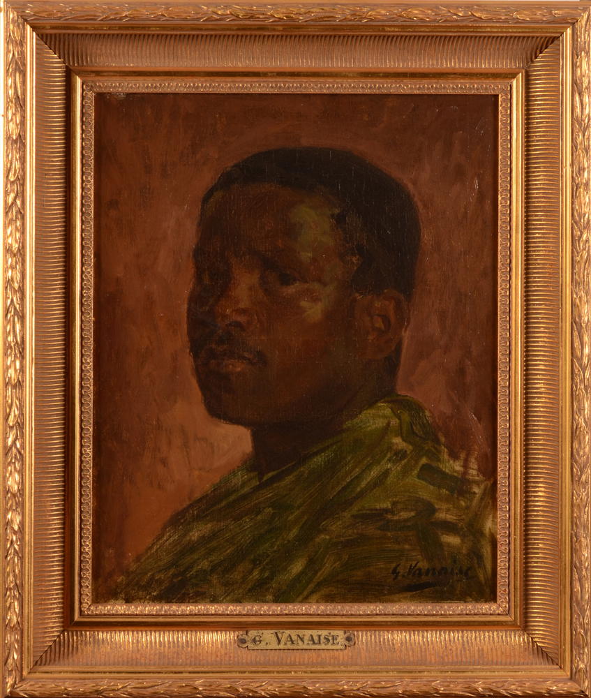 Gustave Vanaise — The painting in its modern L XVI style frame