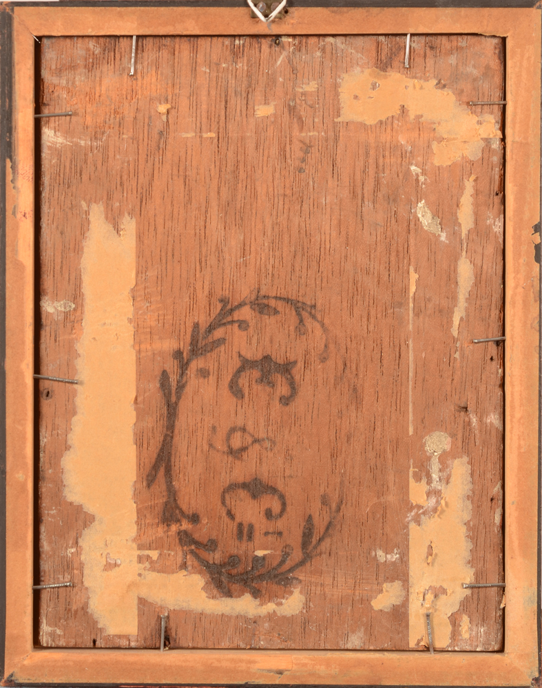 Gustave Vanaise — Back of the panel, probably from a cigar case