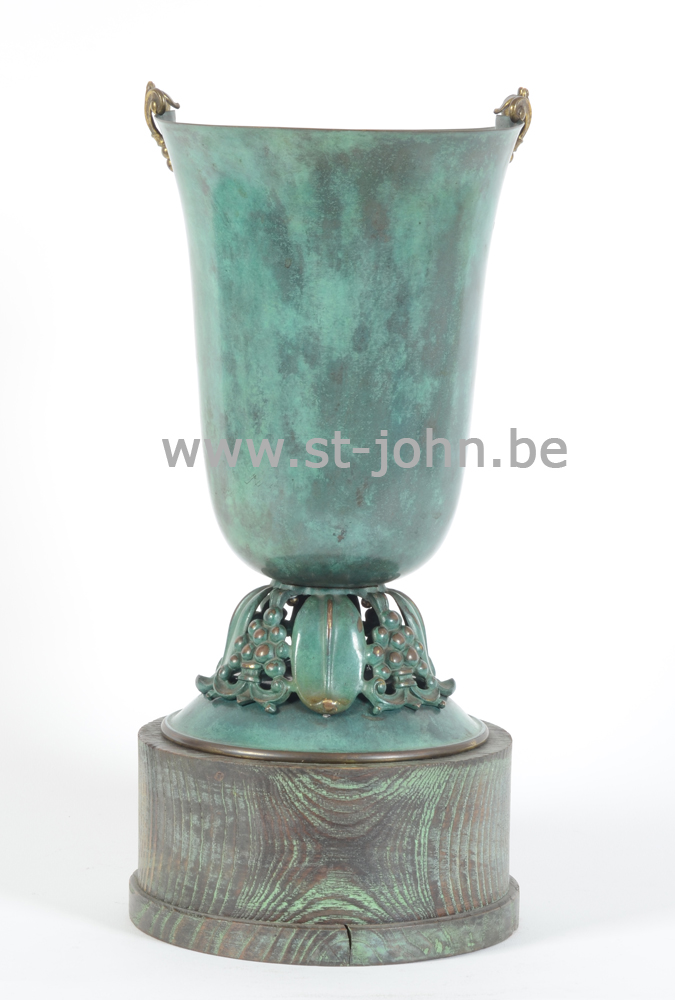 Patinated art deco vase, 1930s