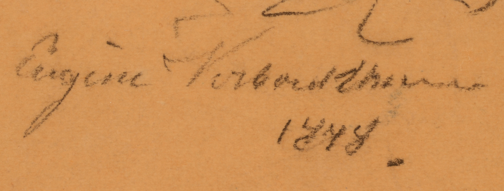 Eugene Verboeckhoven — Full signature of the artist and date, bottom left