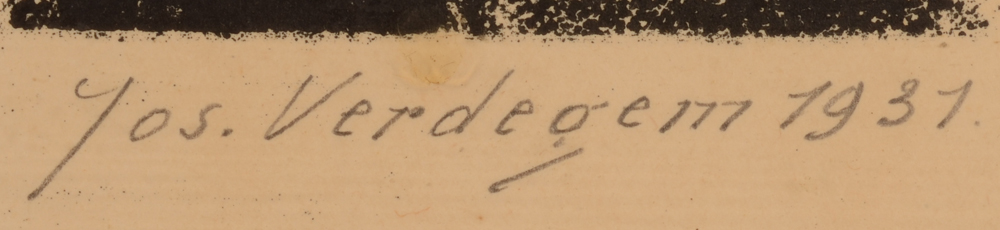 Jos Verdegem — Signature of the artist and date bottom right
