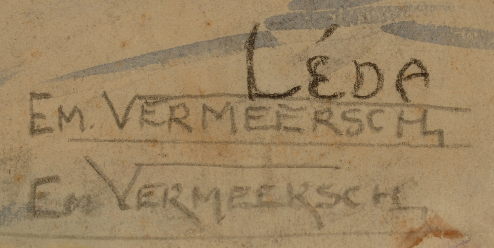 Emile Vermeersch  — Signature of the artist (twice) in pencil and title bottom right
