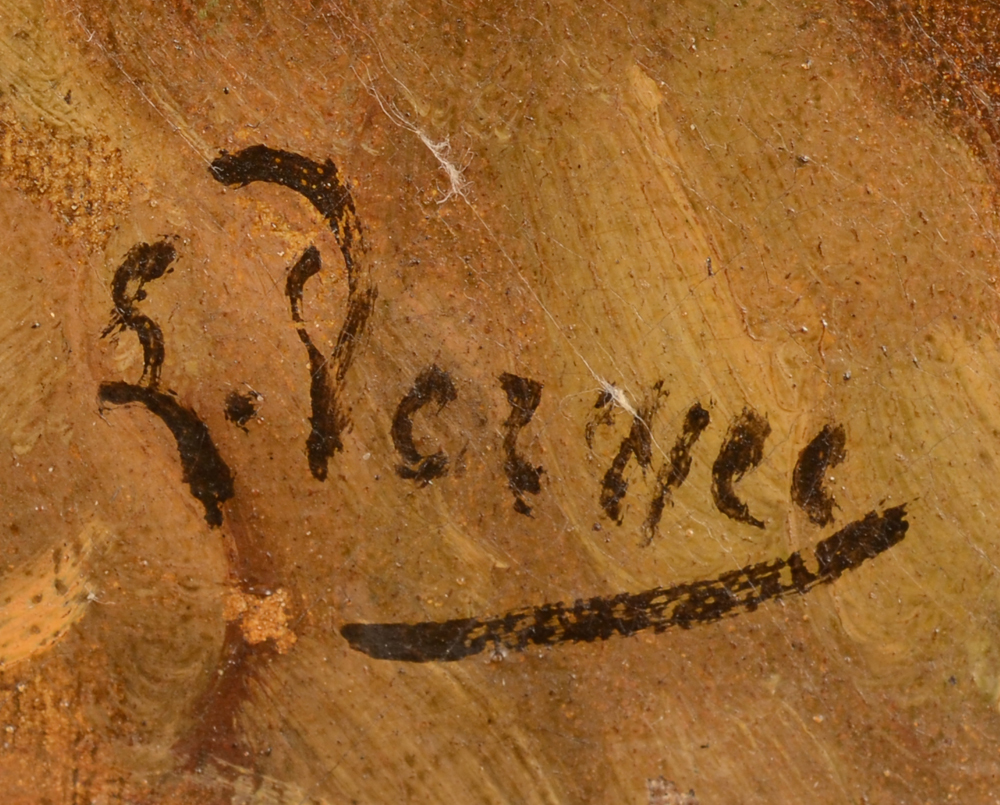 Louis Verwee — Signature of the artist, bottom middle