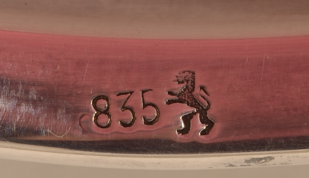 Gebruder Deyhle — Makers mark and alloy mark on the silver handle