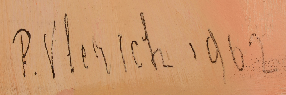 Pierre Vlerick — Signature of the artist, and date, bottom left