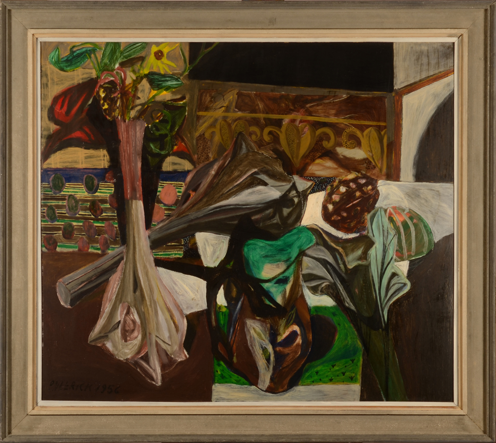 Pierre Vlerick — the painting in its original frame, patinated by Vlerick himself