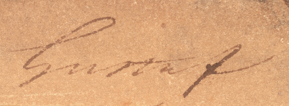 Gustaaf Wappers — Signature of the artist, bottom right