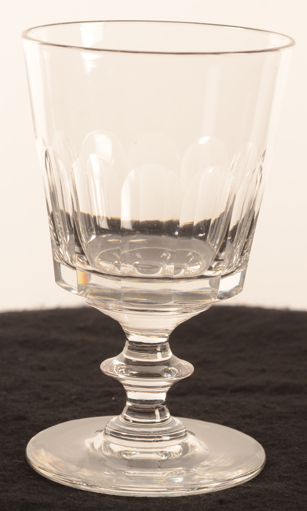 19th century drinking glass disk stem 137 mm — <p>Verre 19ième pied disque</p>